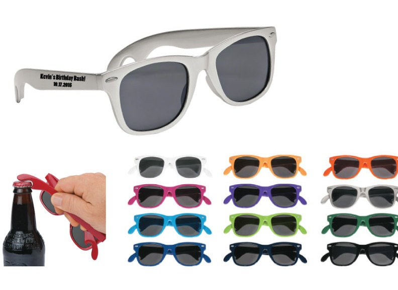 250 Personalized Bottle Opener Sunglasses, Custom Printed Wedding Price Includes Sunglasses W One Color Imprint On Side