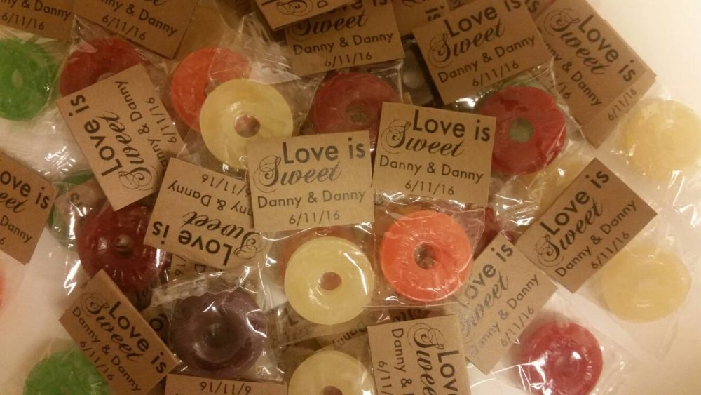 100 Love Is Sweet Wedding Favors. Rustic Mint Bridal Shower To Be Favors