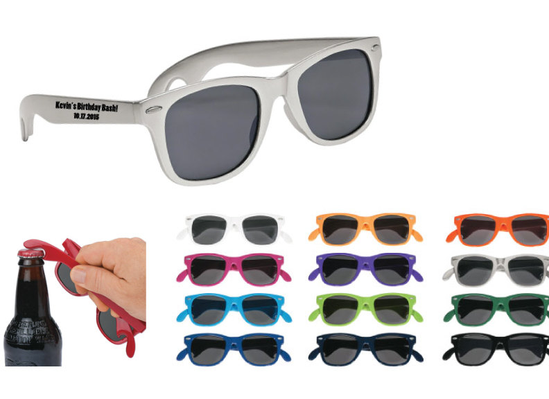 200 Personalized Bottle Opener Sunglasses, Custom Printed Wedding Price Includes Sunglasses W One Color Imprint On Side