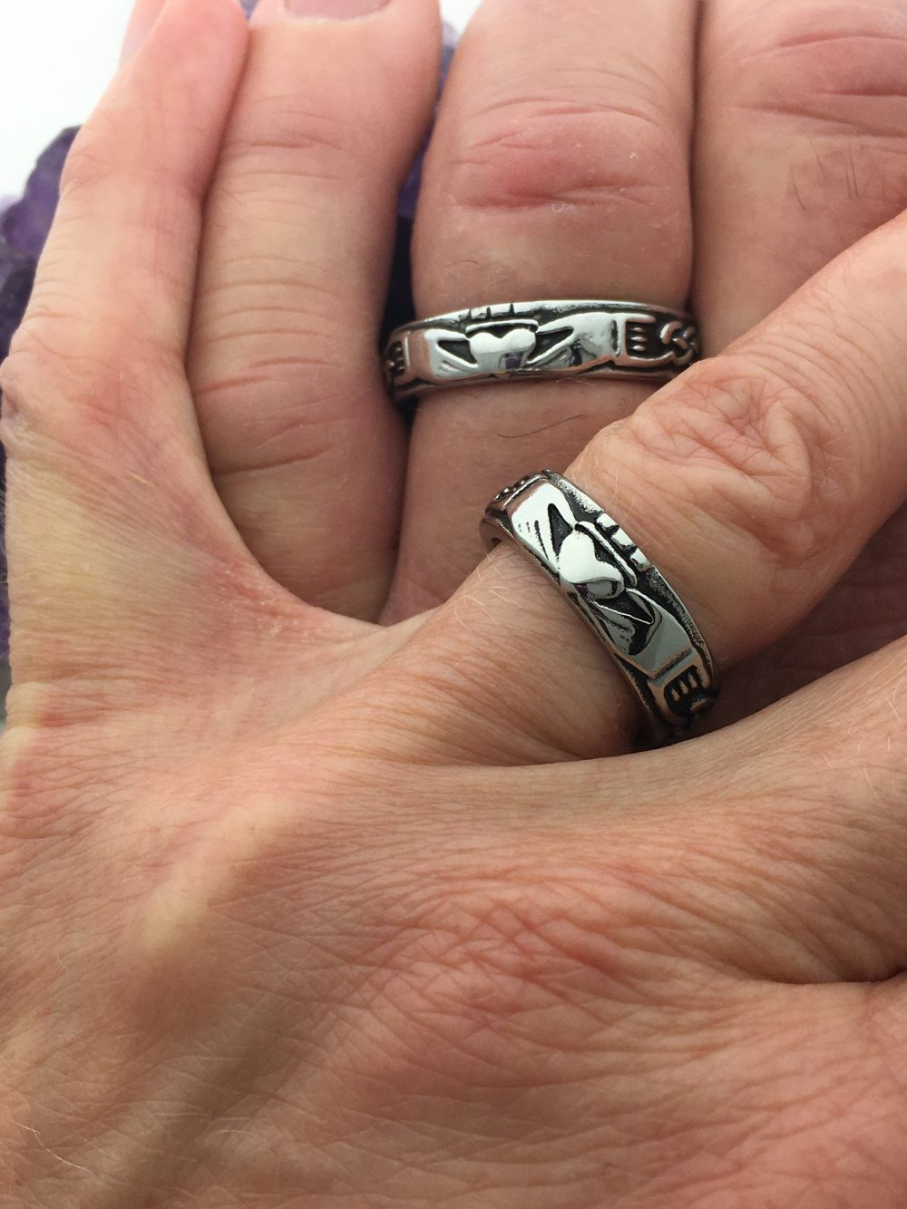 Claddagh Celtic Knot Band, S6, Irish Wedding Bands, Thumb Ring, Jewelry, Jewelry | S6