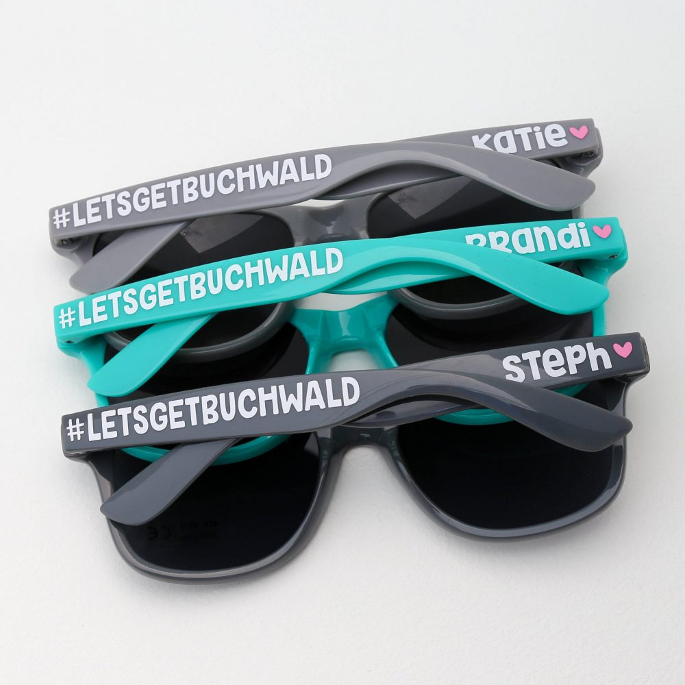 Custom Sunglasses, Party Bridesmaid Gifts, Personalized Bachelorette Wedding Favors, Destination