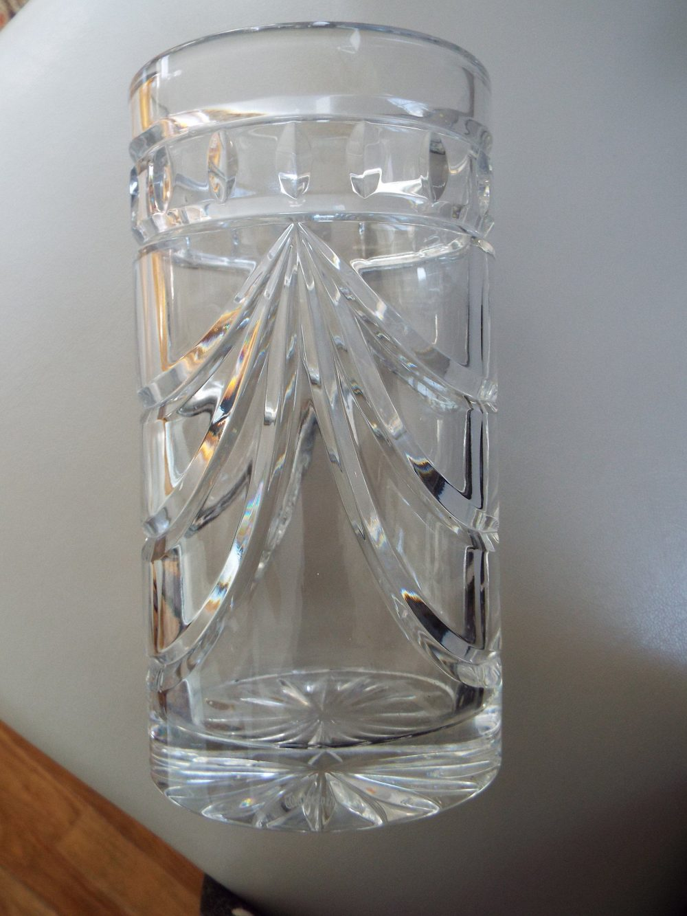 """8"""" Waterford Crystal Vase Overture 1968503 Old Mark Cylinder Flower Replacement Discontinued"""