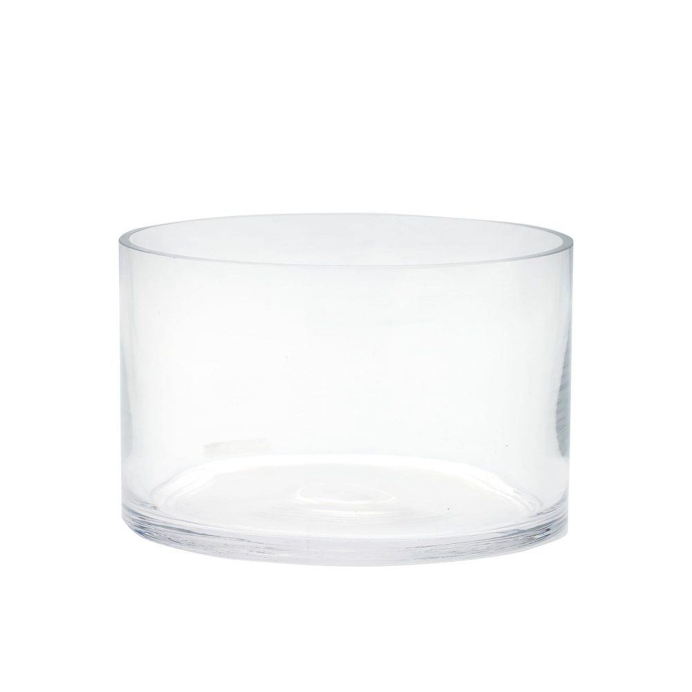"""Glass Cylinder Vase D-12"""" Hand Blown Wide Opening Vases Centerpieces Table Flower For Wedding Decoration Formal Dinner"""