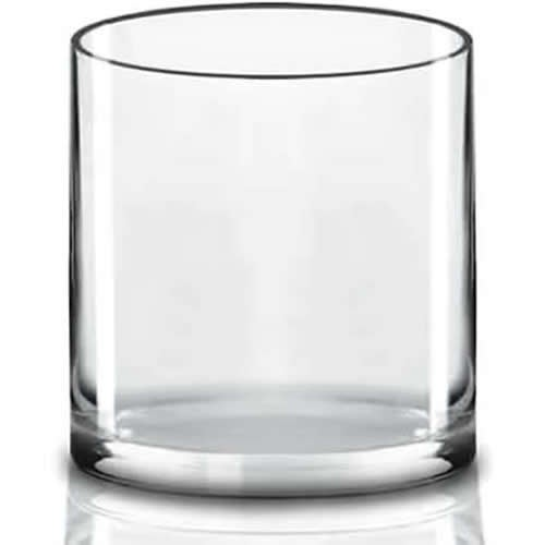 """Glass Cylinder Vase H-12"""", D-12"""" Opening Large Hand Blown Vases Centerpieces, Pack Of 1 Pc & 2 Pcs"""