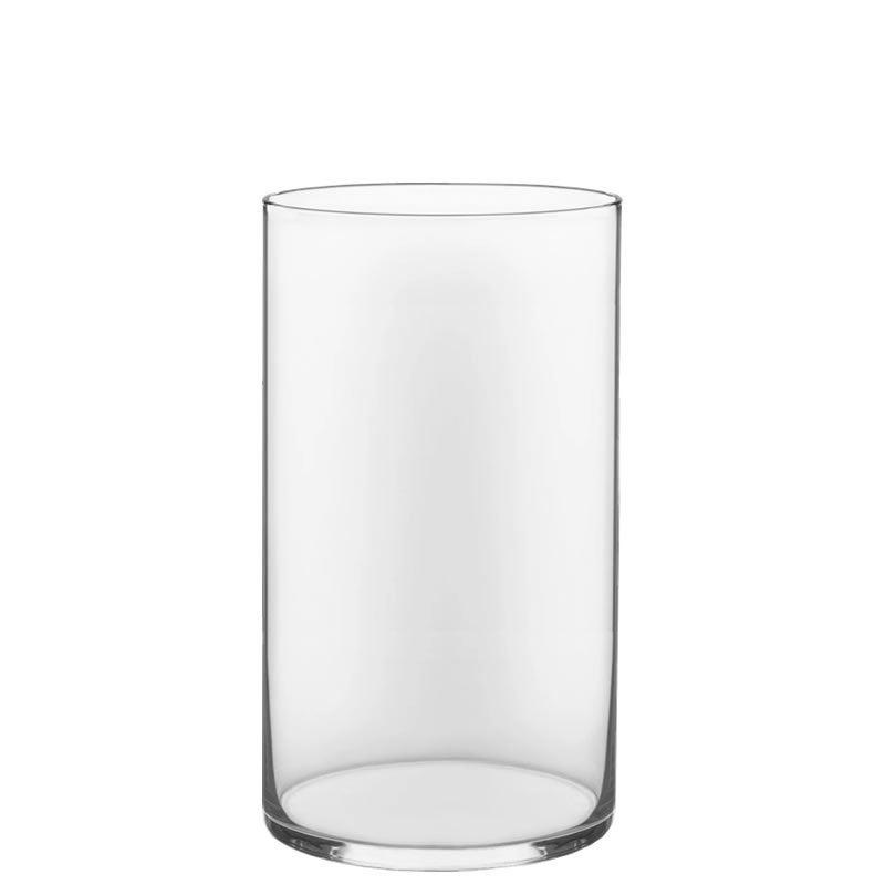 "Glass Cylinder Vase H-16"", Open D-10"" Hand Blown Vases Centerpieces Table Flower For Wedding Decoration Formal Dinner"