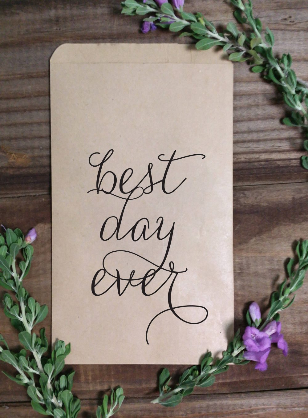 Best Day Ever Rustic Wedding Treat Bags, Goodie Favor Country, Kraft Brown Rustic, Burlap, Popcorn, Candy