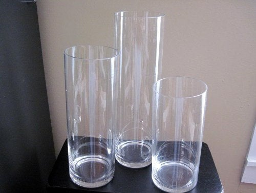 30% Off Promo Cylinder Vases/ Glass Vase/ Table Top Vase/Centerpiece Kits/Diy Centerpieces/Glass Vases/Tall Vase/ Clear Vases
