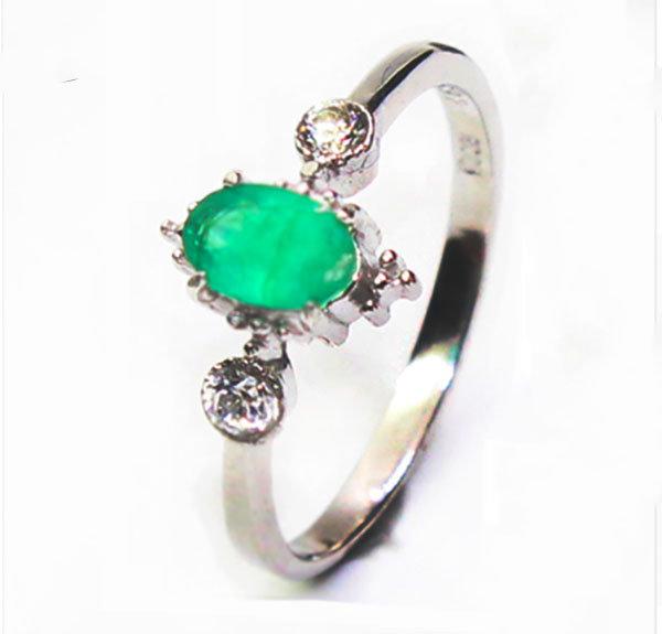 0.38Ct Vintage Natural Emerald Engagement Ring, Princess Anne, Wedding Anniversary Bridal May Birthstone Ring