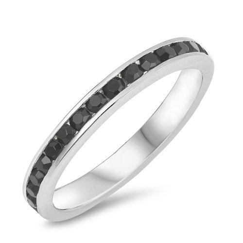 3mm Titanium Eternity Ring, Personalized Custom Engraved Promise Wedding Band, Ring