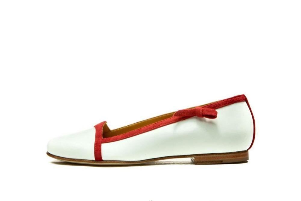 White Wedding Ballerina Shoes/ Slip On Women's Flats/ Custom Order Bridal Comfortable Shoes/ Leather Flat Shoes