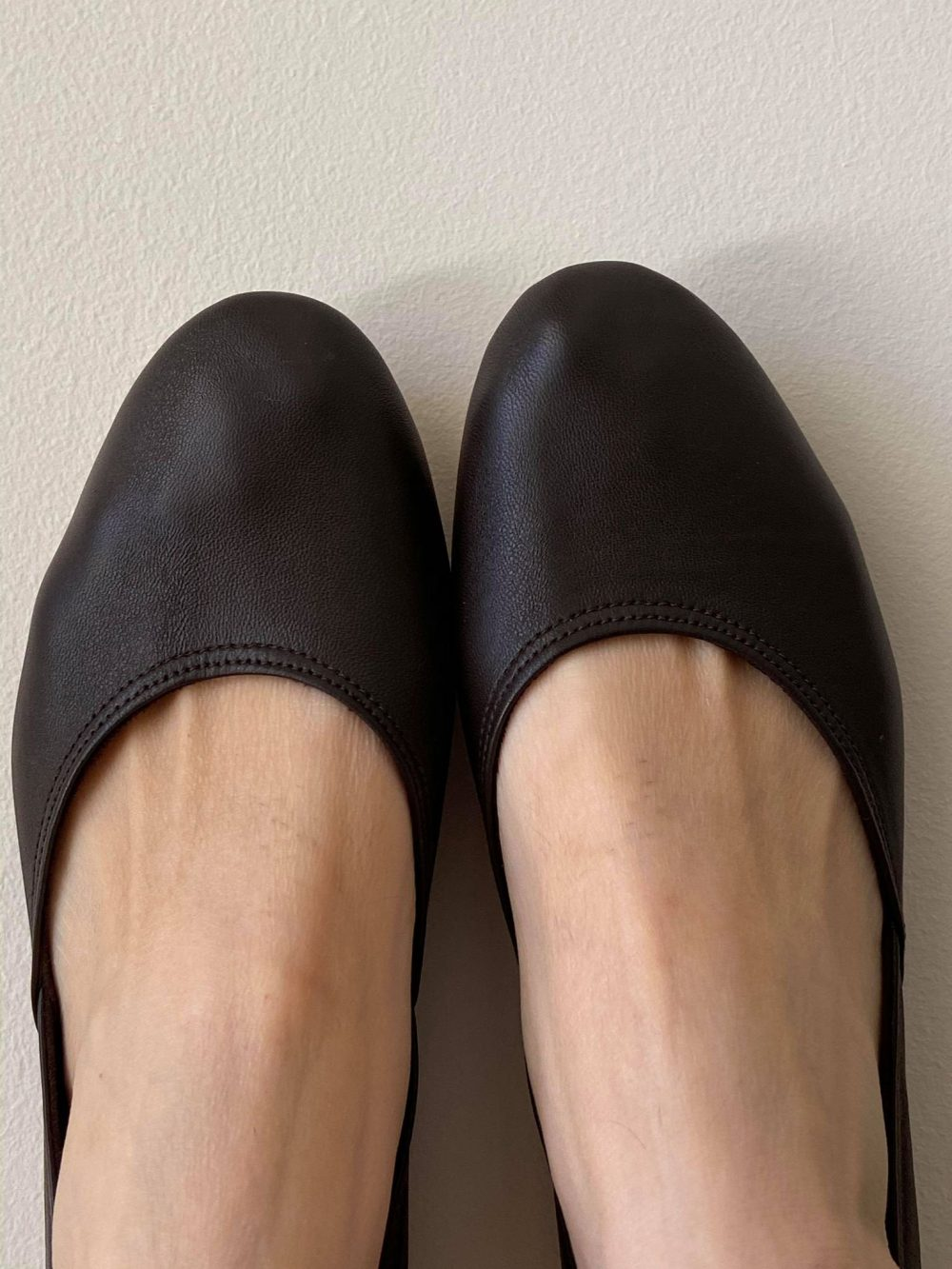 Maya. Dark Brown Leather Ballet Flats/ Women's Shoes/ Bridal Flats. Available in Different Colours & Sizes