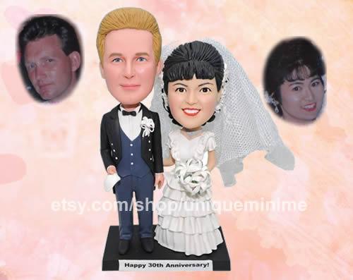 Bride & Groom Custom Cake Topper Form Your Photo Figurine Personalized Birthday Wedding Shower