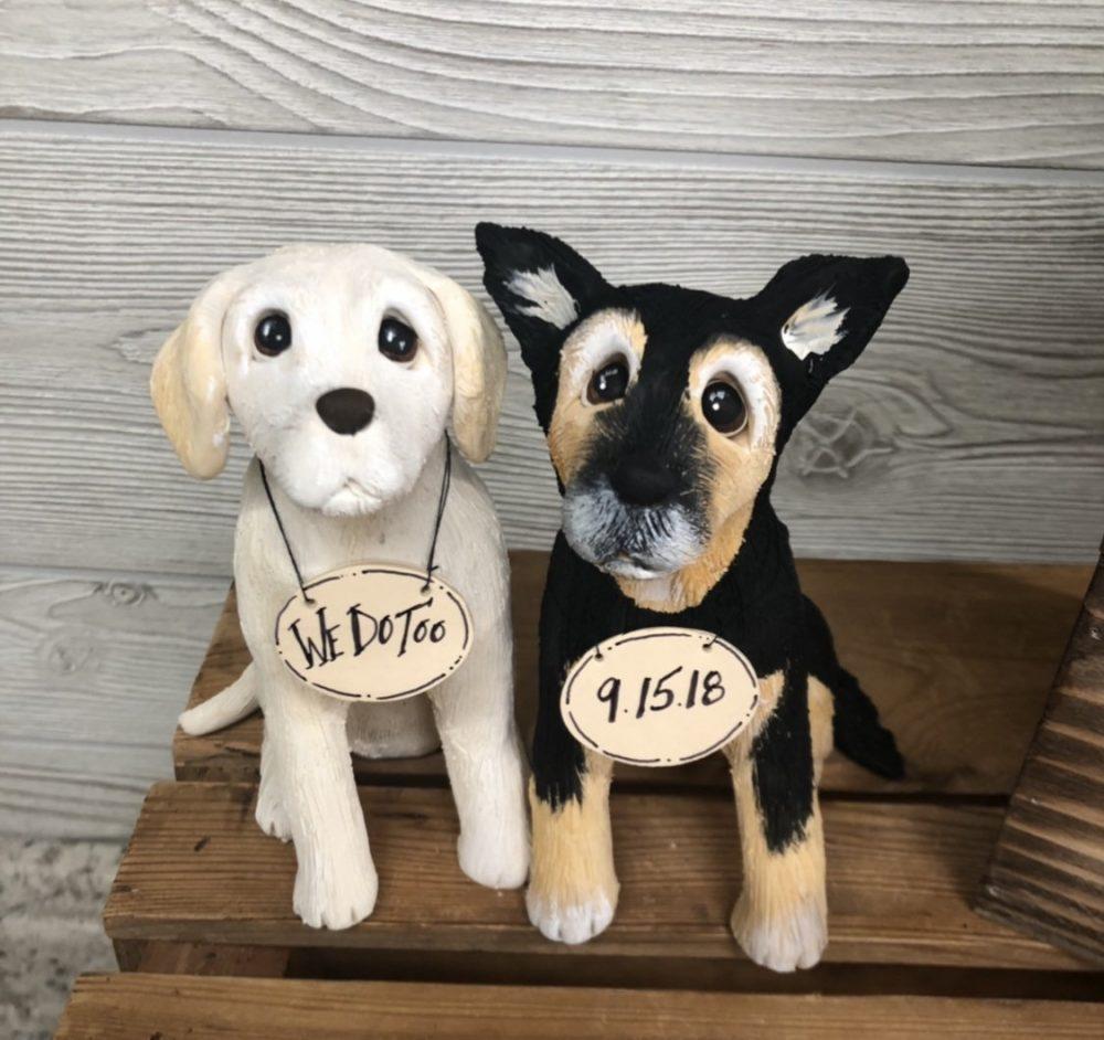 Custom Cake Topper, Dog Grooms Cake, Sculpture, Replica Of Your Pet, Lover, Figurine, Wedding Topper