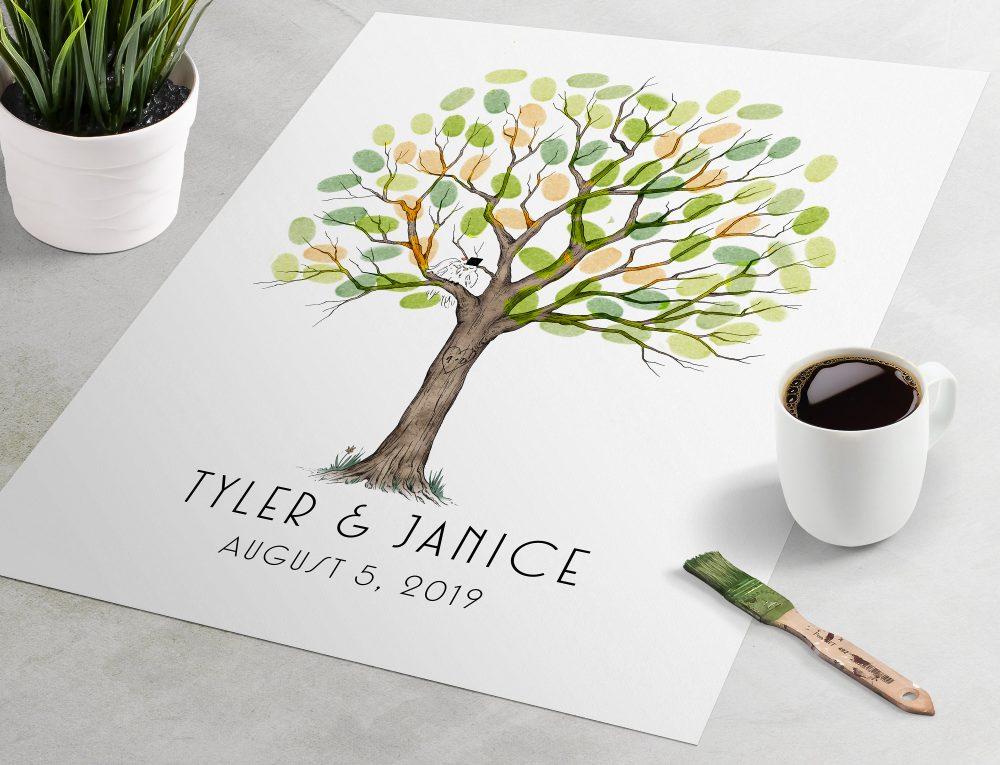Fingerprint Tree Guest Book, Wedding Fingerprint Tree, Wedding Guest Book, Tree Wedding, Book