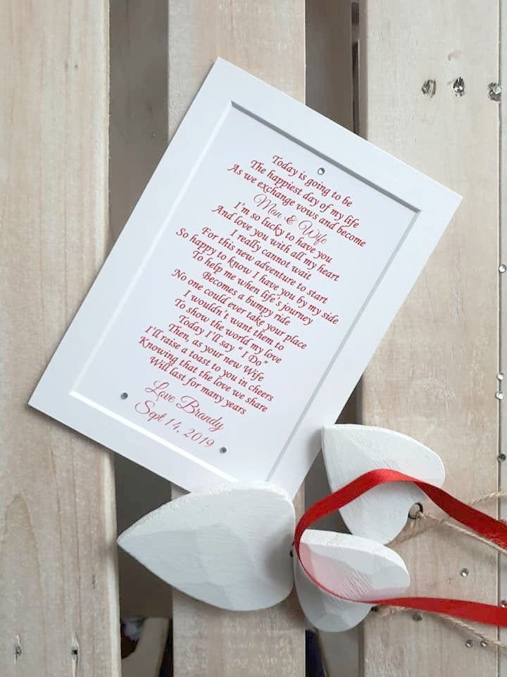 Groom Gift From Bride, Husband To Be Gift, Wedding Day For Husband Be, Bride Groom, Digital Print Option