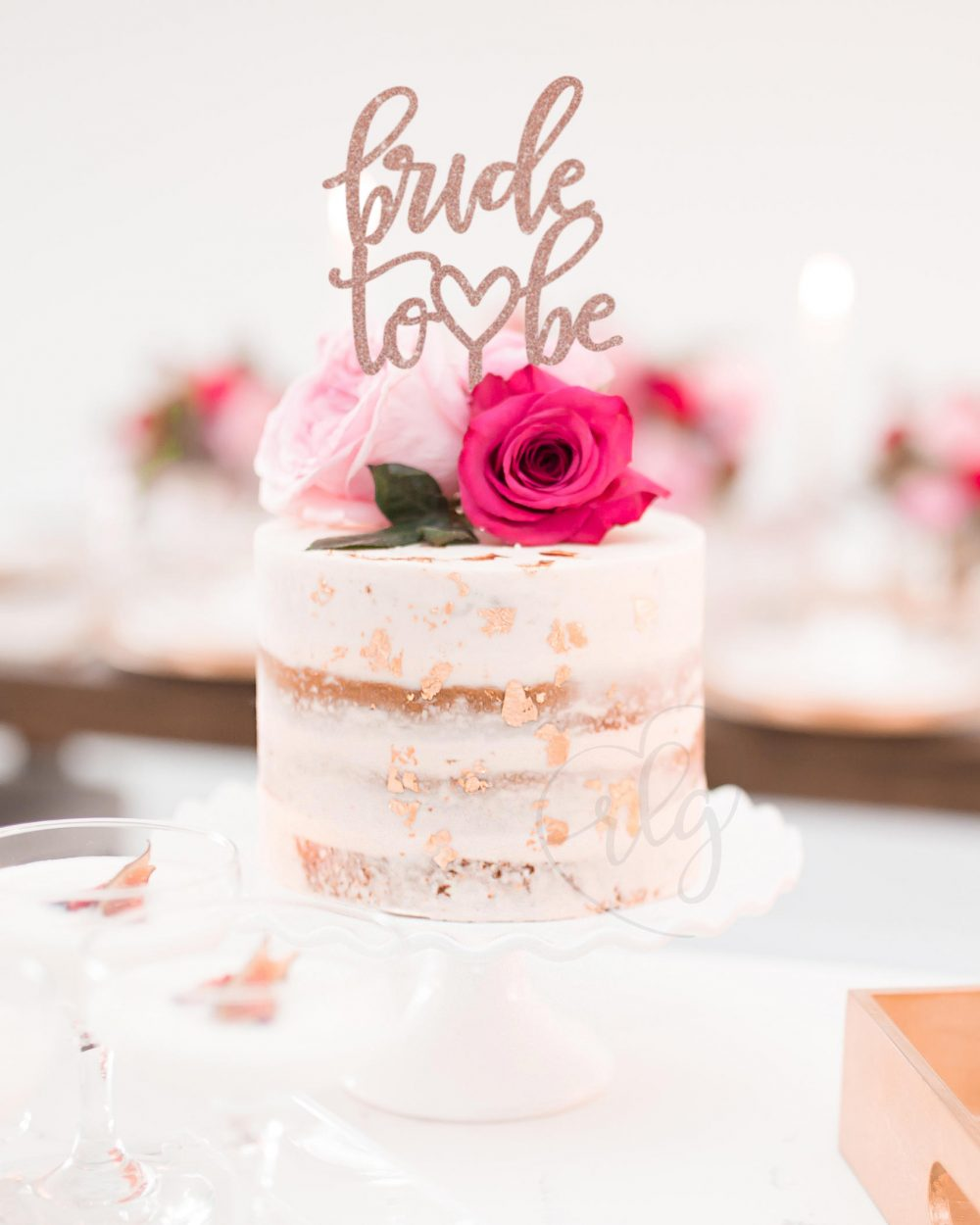 Bride To Be Cake Topper, Bridal Shower Custom Bachelorette Engagement Topper