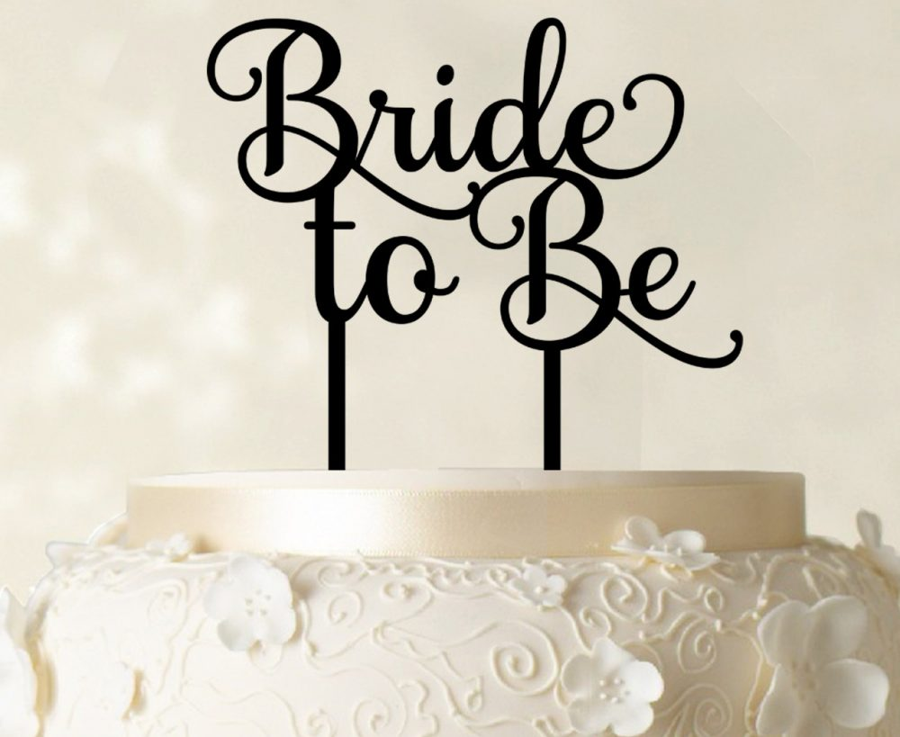 Bride To Be Cake Topper, Custom Glitter Wedding Personalized Decorations Cato114