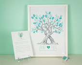 Custom Wedding Fingerprint Tree Guestbook