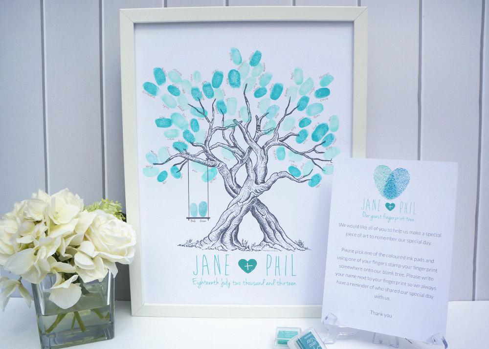 Custom Wedding Fingerprint Tree - With Swing