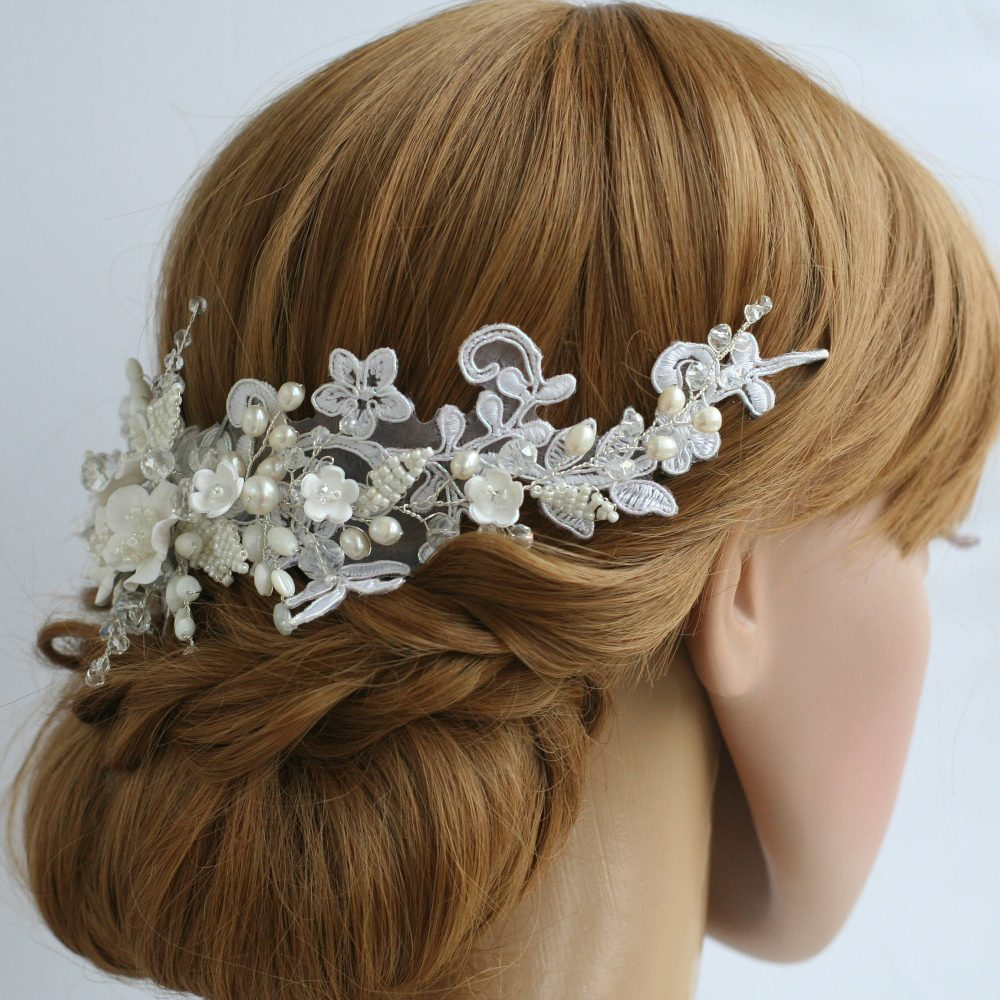 Lace Hair Accessories Bridal Hair Comb Wedding Headpiece