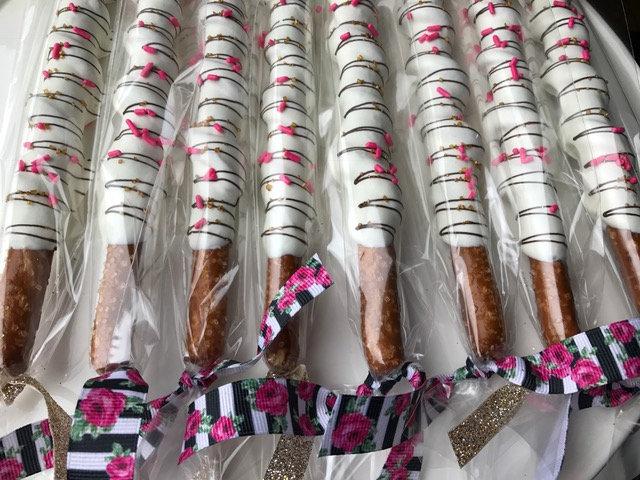 1 Dozen Kate Spade Chocolate Pretzels, Shower, Bachelorette, Theme, Decor, Shower