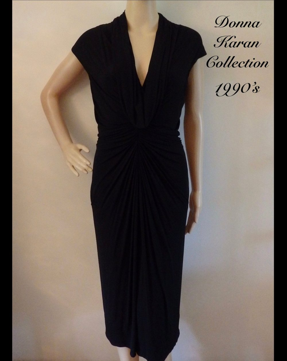 1990S Donna Karan Collection Silk Blend Jersey Infinity Dress~2 Different Neckline Options