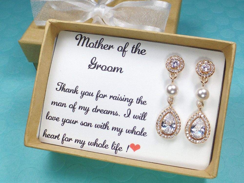 Mother Of The Bride Gift, Mother Groom Gift, Mother Earrings, Mother Necklace, Wedding Jewelry
