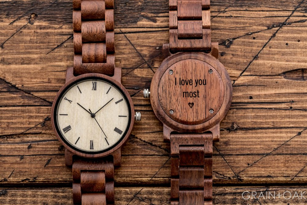 Mens Watch, Wood Groomsmen Gifts, 5Th Anniversary Gift, Wedding Gifts For Groom, Engraved Wooden Retirement Gift