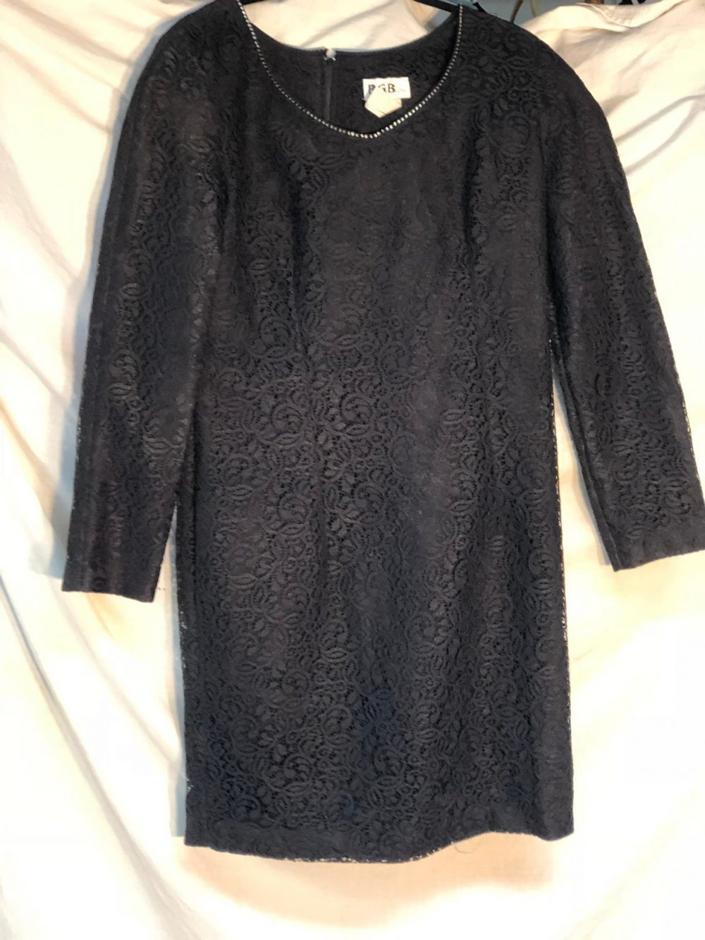 Black Lace Vintage Dress, Little Funeral Attire
