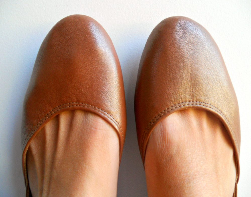 Maya. Bronze Leather Ballet Flats/ Women's Shoes/ Bridal Flats. Available in Different Colours & Sizes. Pre-Order Only