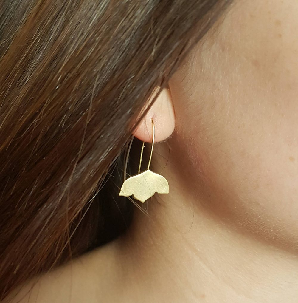 Gold Flower Earrings, Drop Long Bridal Wedding Mother's Day Gift