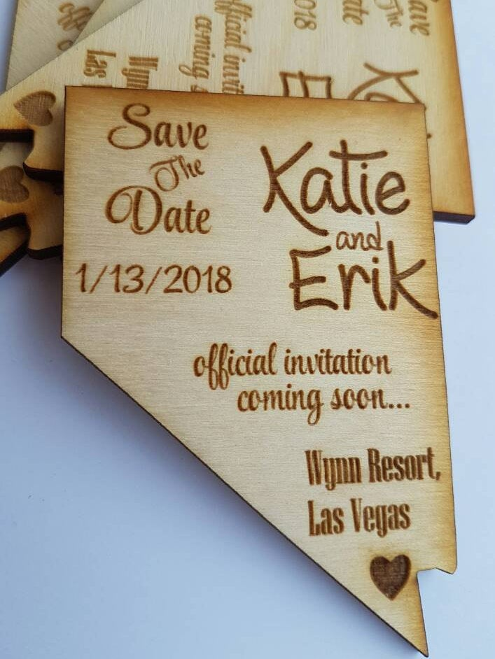 75 Rustic Save The Date Magnet, Nevada Save Date Magnet, Lasvegas Wedding Magnets, Las Vegas Destination