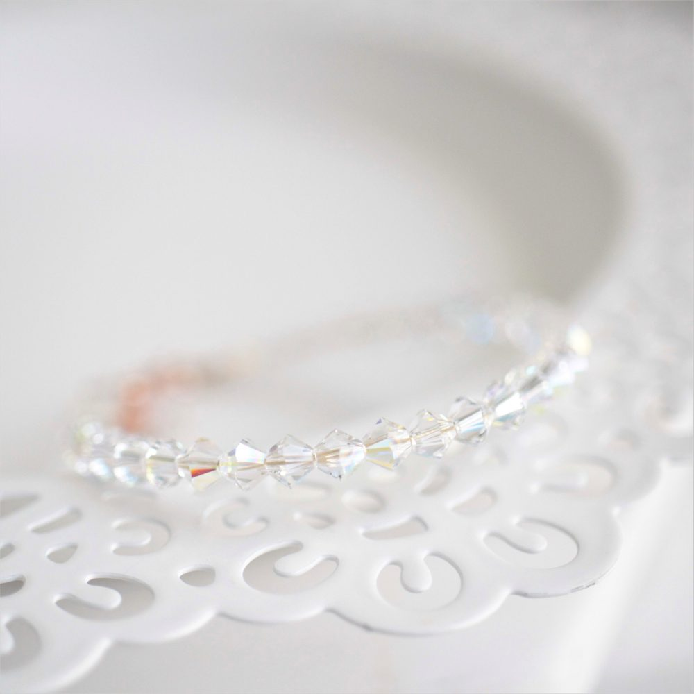 Flower Girl Bracelet, Swarovski Crystal Bracelet Bride's Gift, Gift For Girl, Rg