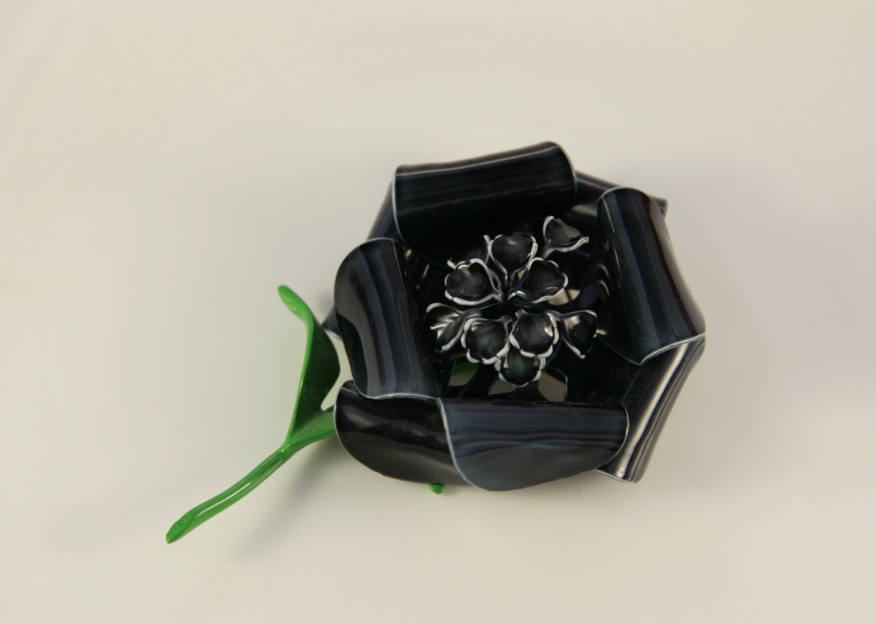 Black Girl Magic Rose Brooch Gothic Princess Flower Fairy Large Pin Day Of Dead Gift Enamel Wedding Mother Of Bride
