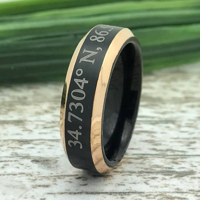 6mm Titanium Wedding Ring, Personalized Band, Anniversary Promise Ring Free Engraving