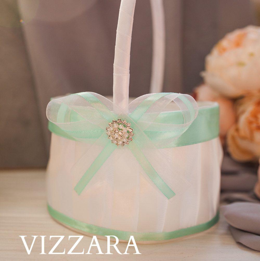Mint Wedding Flower Girl Basket Decor Basket Ideas Baskets
