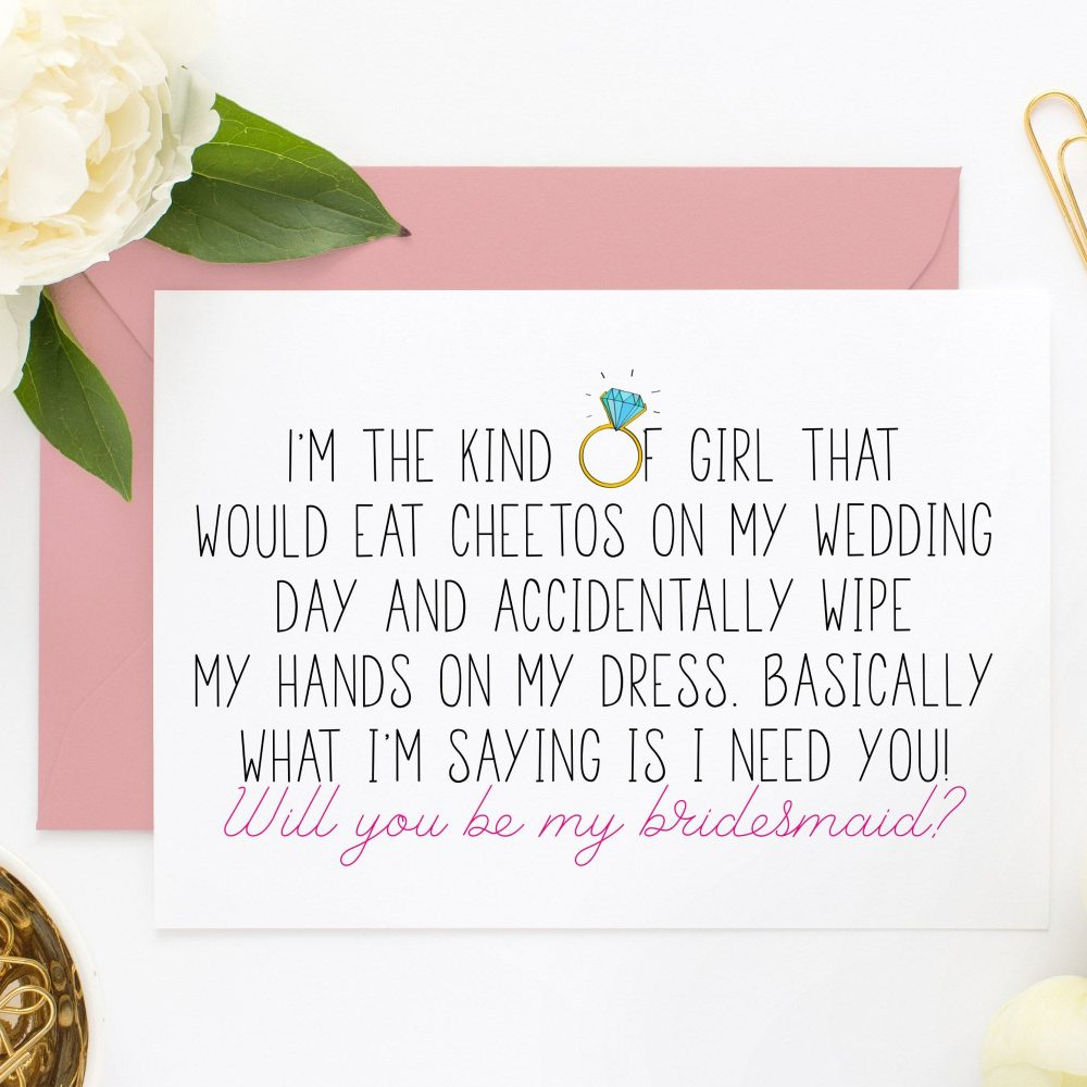 Funny Bridesmaid Card, Proposal, Moh Cards, Asking Proposal Card | Itkog101