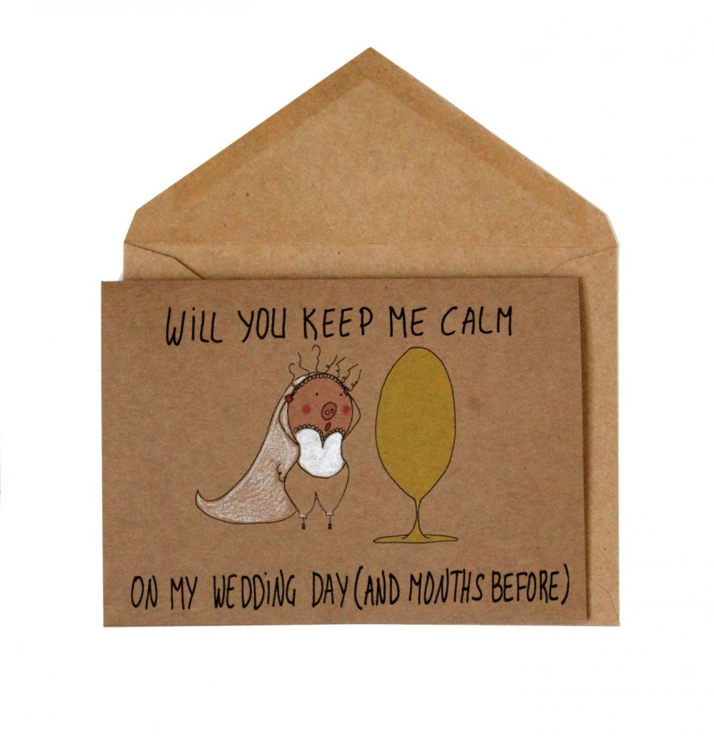 Funny Bridesmaid Card - Will You Be My You Maid Of Honor Bridesmaids Cards Pig