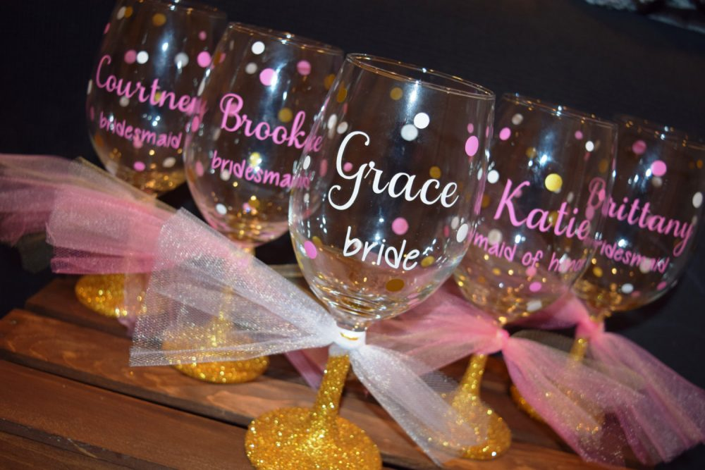 Glitter Wine Glass, Bridal Party Gift, Bridesmaid Dipped, Glasses, Wedding Bride Gift