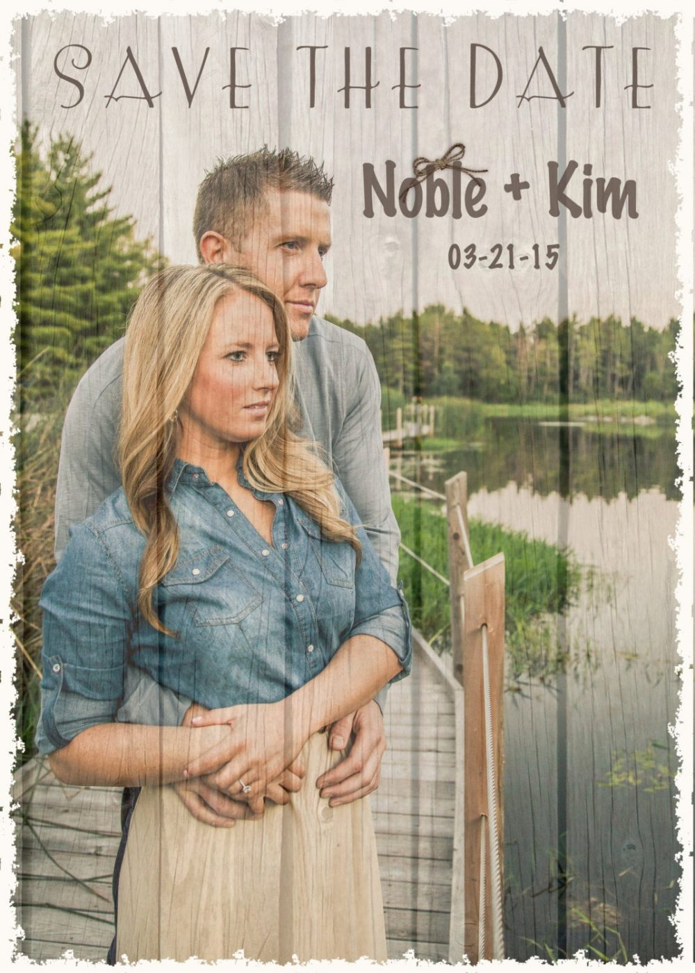 Wood Save The Date With Photo, Rustic Save Date, Rustic Wedding Invitations, Western Invitation, Wedding Announcement, Dates