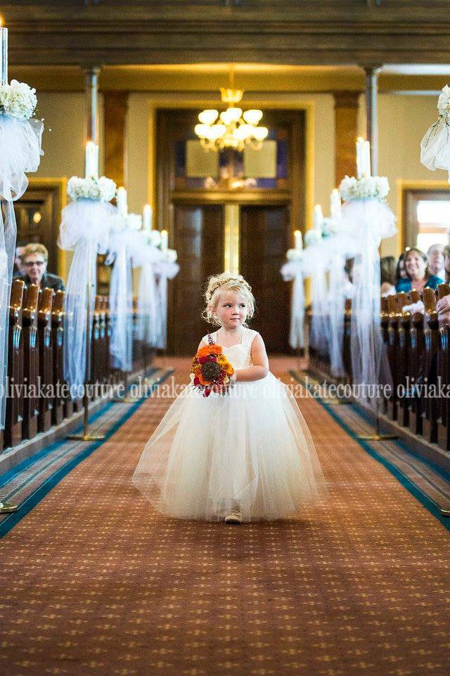 Vintage Wedding Flower Girl Dress, Ivory Tulle Tutu Dresses, Weddings