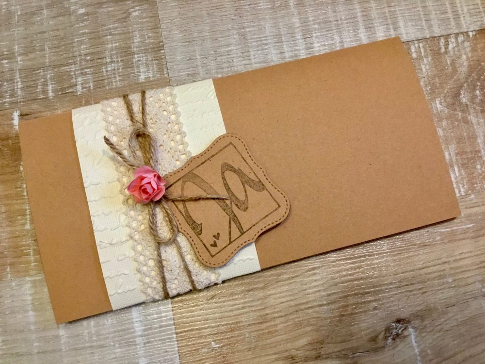 15 Piece Invitation Wedding Vintage Boho Kraft Paper Craft