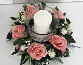 Silk Table Centrepiece, Wedding Centrepiece, Candle Holder, Wedding Decoration, Event Decoration, Party Decoration, Flower Arrangement