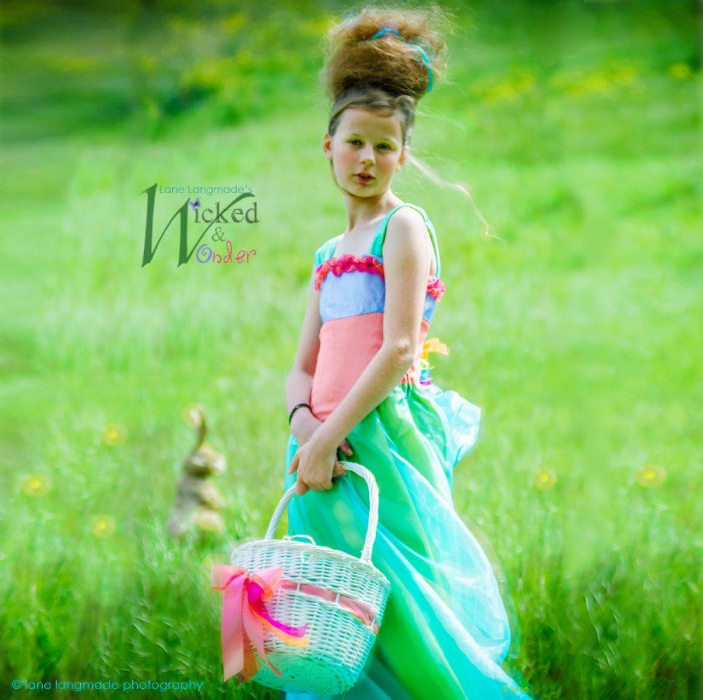Easter Dress, Girls Spring Fantasy Dress Special Occasion For Flower Girl Wedding Flower Girl Dress