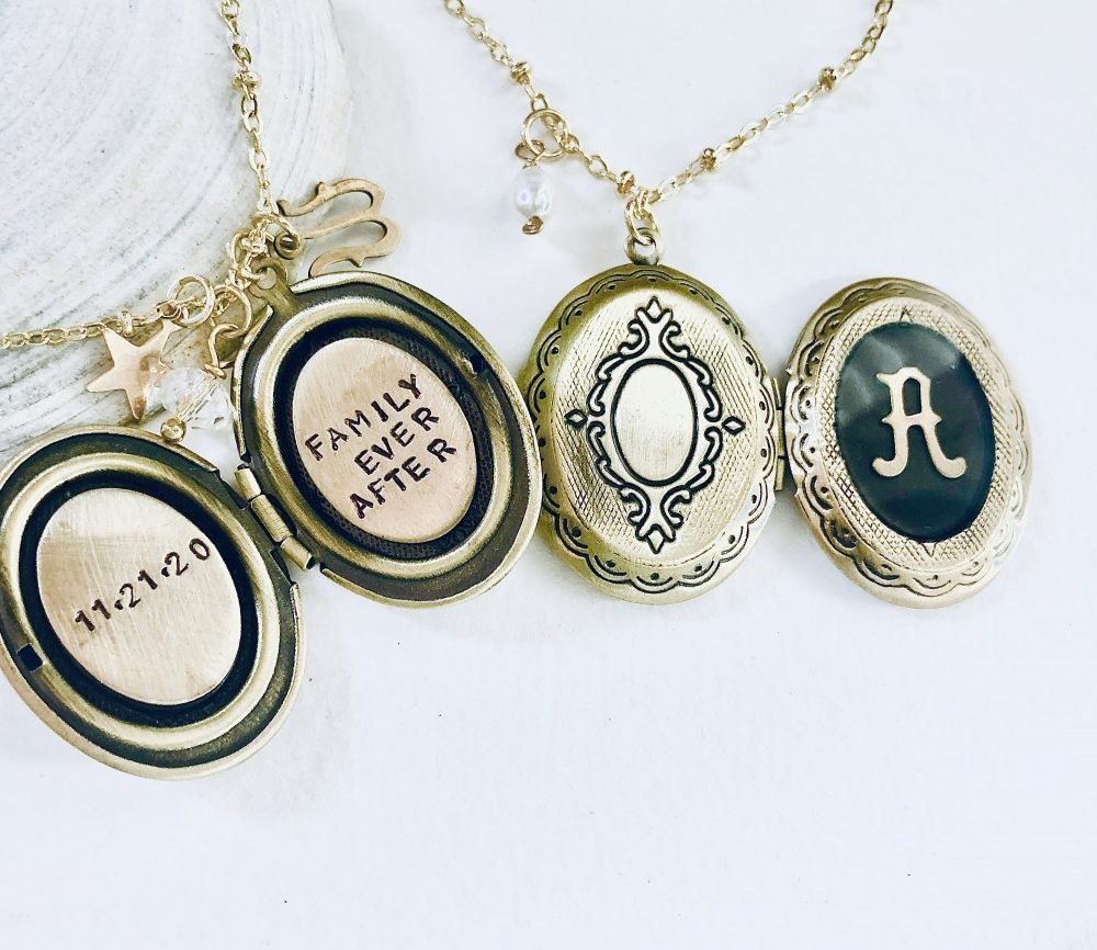 Family Ever After Locket Necklace, Initial Locket, Personalized For Bride, Wedding Necklace Gift Mother Of The Groom