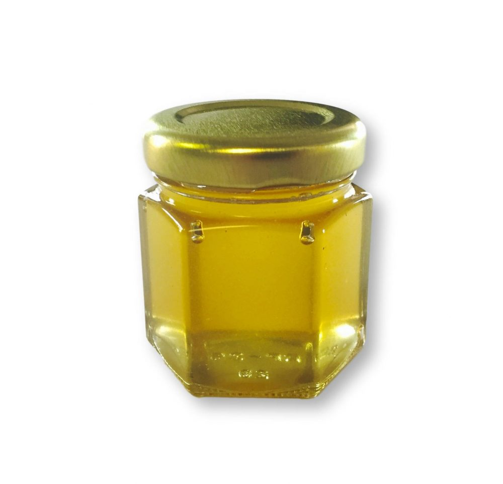 Pure Honey Wedding Favor With Gold Or White Lid - Free Shipping
