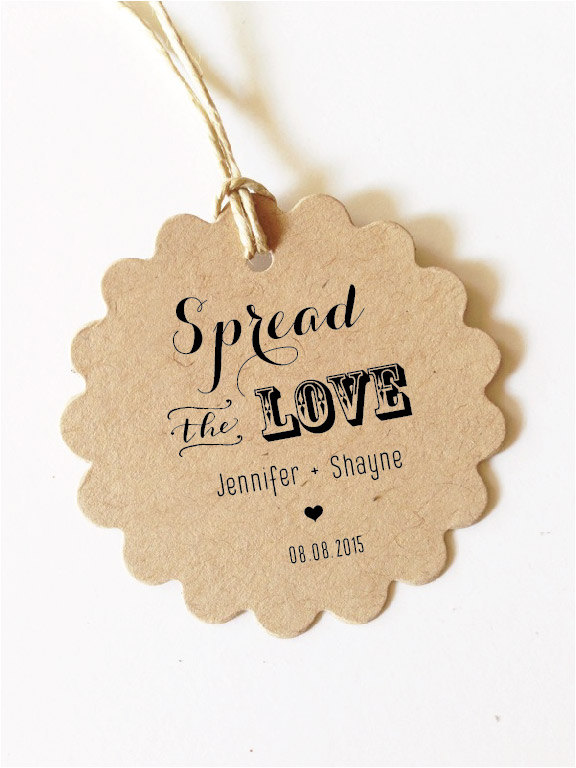Wedding Gift Tags Spread The Love Tag Wedding Favor Love Jam Tag Canning Labels Kraft, Natural, White