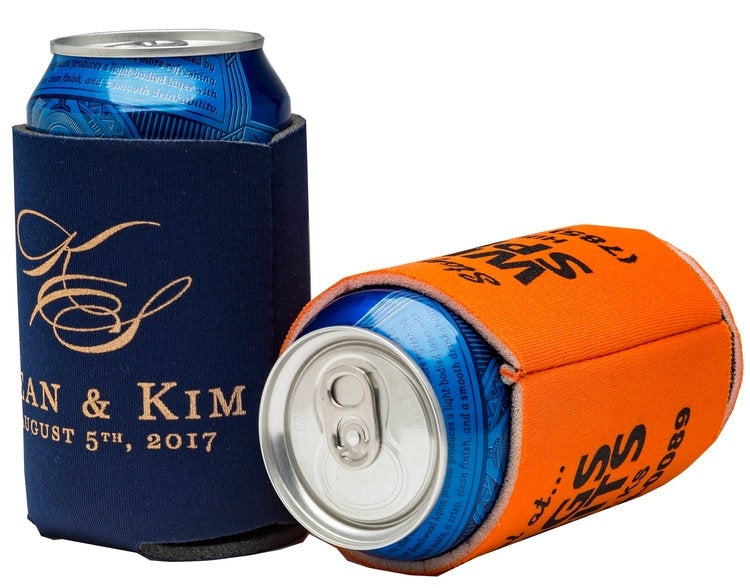 Can Coolers, Coozie, Koozie, Beverage Holder W/Custom Imprint, Minimum 25 One Color Your Art Or Ours, Beer Holder, Foam Collapsible