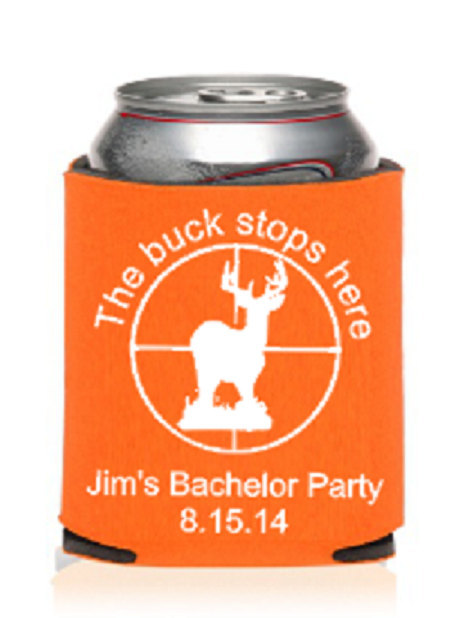 Personalized Bachelor Party Custom Koozie®, Or Can Cooler, Groomsman Gift, Party Favors