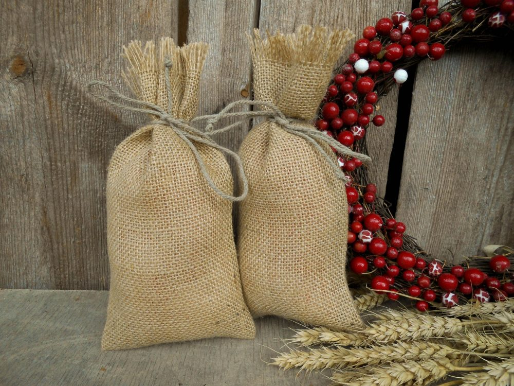 Burlap Bags Wedding Favor Party Gift Rustic Candy Valentine Bag